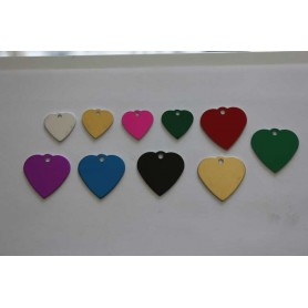 DOG TAG DOG HEART FREE ENGRAVING VARIOUS SIZES AND COLORS