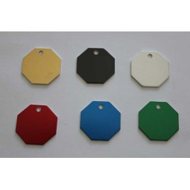 DOG TAG DOG OCTAGON FREE ENGRAVING VARIOUS COLORS