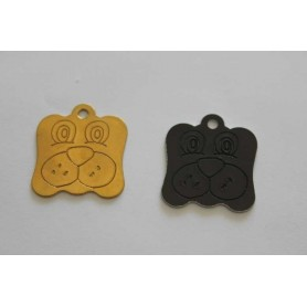 TAG DOG FREE ENGRAVING SHAPE FACE DOG VARIOUS COLOURS