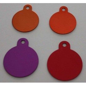 DOG TAG DOG DISC FREE ENGRAVING VARIOUS SIZES AND COLORS